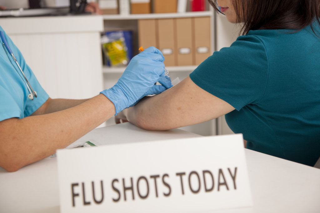 flu vaccination for infection control