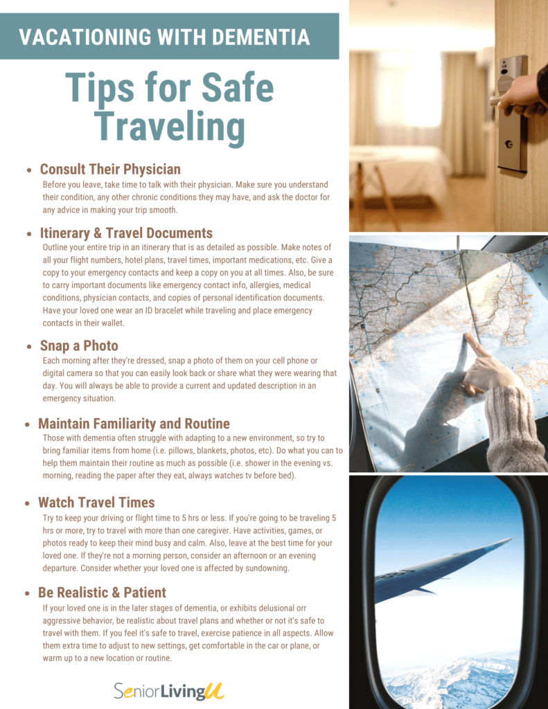 traveling with dementia graphic